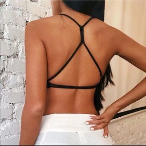 Other - backless strappy sports bra workout wirefree